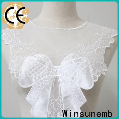 Winsunemb outstanding lace neckline factory price for clothing collars