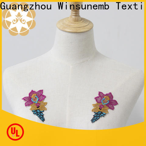 Winsunemb attractive lace neckline factory price for decorate
