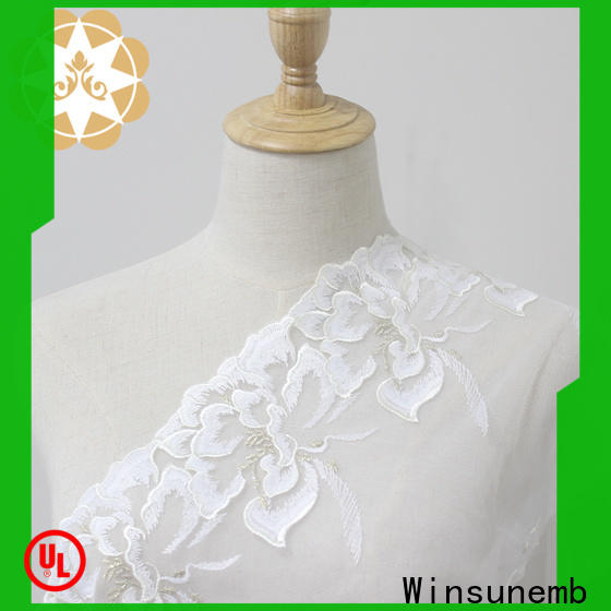 Winsunemb Embroidery Lace Trimming for manufacturer for lingerie
