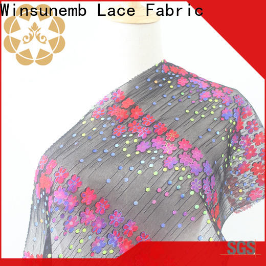 Winsunemb 3d printed lace fabric in china for printed fabric