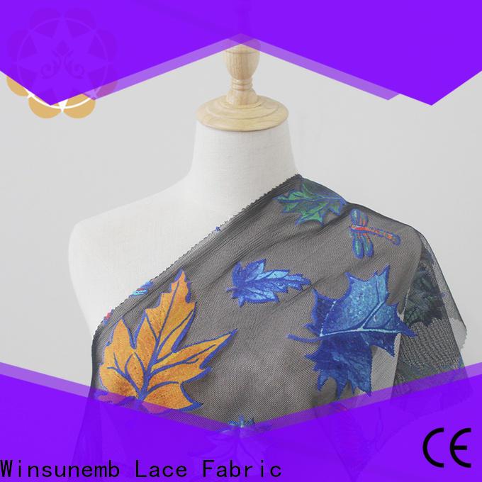 Winsunemb flower Printed fabric wholesale for auto fabric