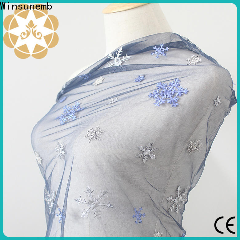 Winsunemb beaded lace fabric wholesale for manufacturer for underwear