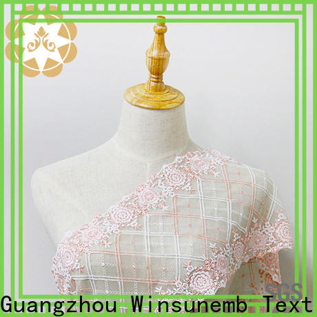 Winsunemb wear bridal lace by the yard in china for apparel