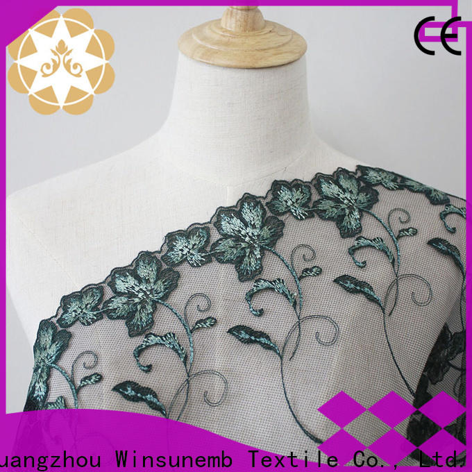 Winsunemb first beaded lace fabric shop now for underwear