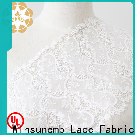 elegant embroidered lace fabric by the yard gold in china for underwear