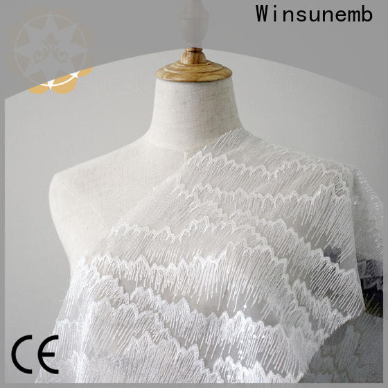 Winsunemb butterfly ivory lace for manufacturer for underwear