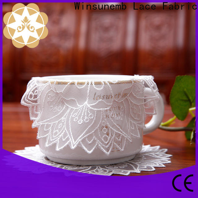 Winsunemb beautiful lace coasters for end table