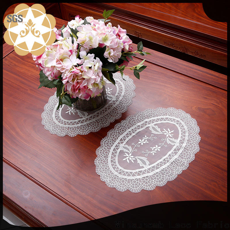 Winsunemb elegant lace doilies overseas market for TV cabinets