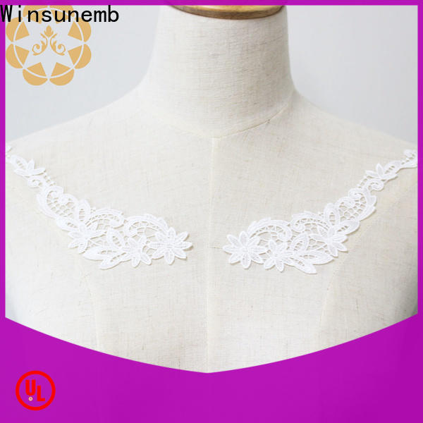 Winsunemb accessories embroidery lace motif in china for chest corsage