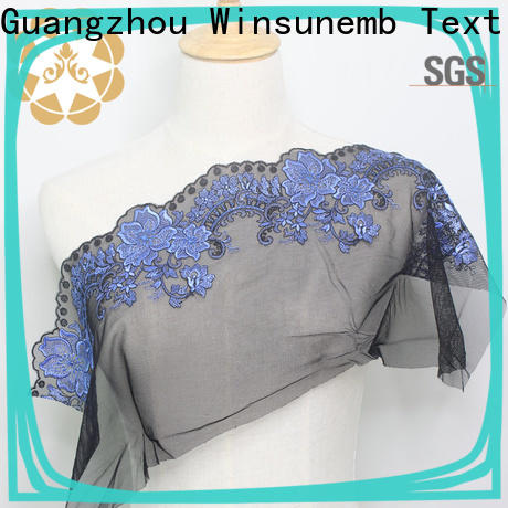 Winsunemb lace fabric grab now for apparel