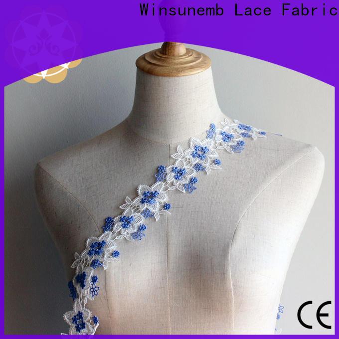 Winsunemb cotton lace trim shop now for bedclothes