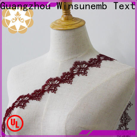 Winsunemb style stretch lace fabric bulk production for lingerie