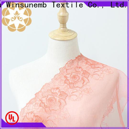 Winsunemb bridal lace fabric for underwear