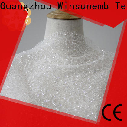 Winsunemb ivory lace for manufacturer for apparel