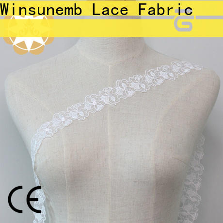 Winsunemb competitive price lace fabric order now for bedclothes