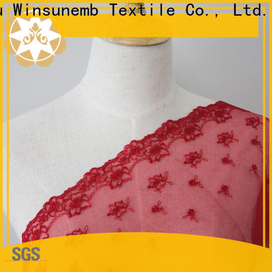 professional bridal lace fabric dark producer for apparel