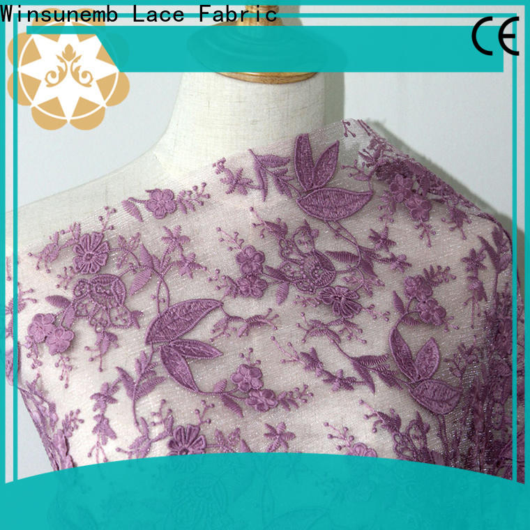 stretch lace fabric handmade in china for underwear