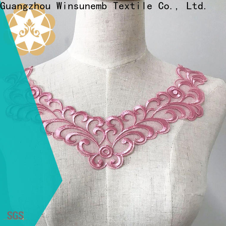 Winsunemb fashion design embroidery lace motif in china for DIY