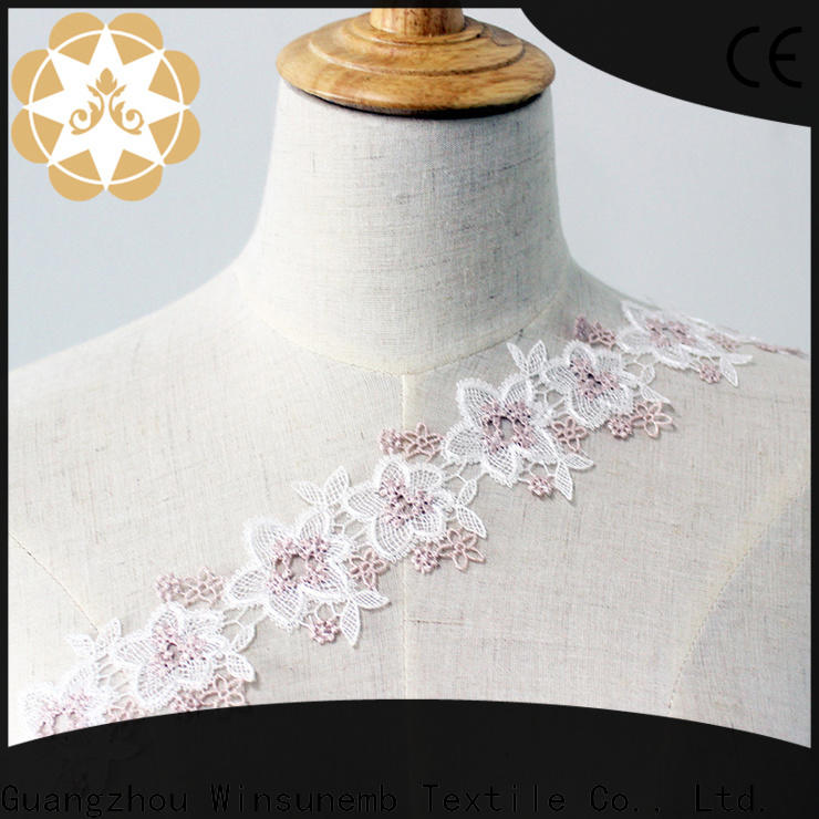Winsunemb sofa Embroidery Lace Trimming bulk production for fashion garment