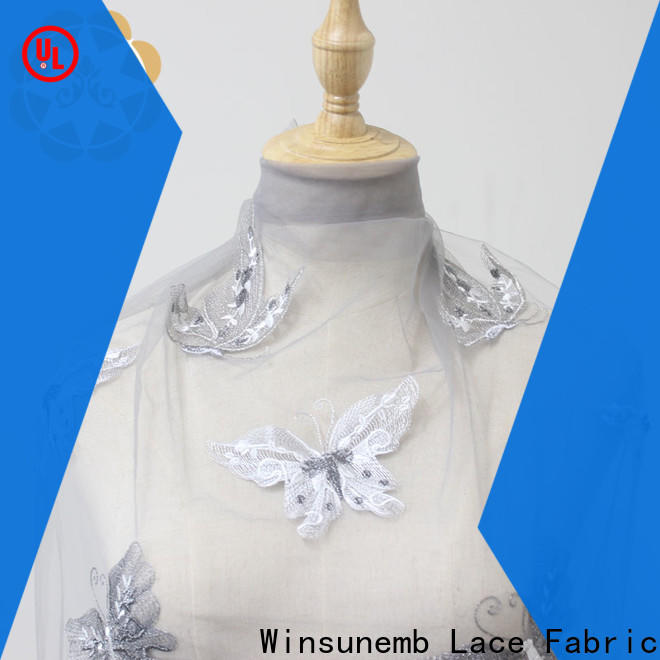lace fabric online design in china for underwear