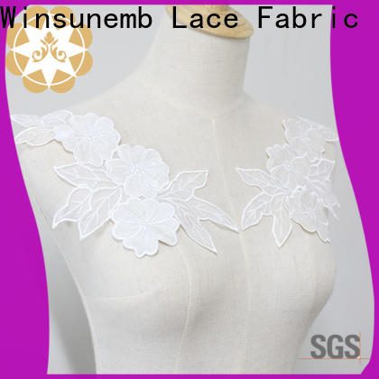 elegant lace neckline costume factory price for clothing collars