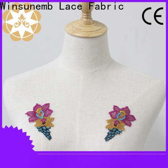 Winsunemb dress lace motif directly sale for clothing collars