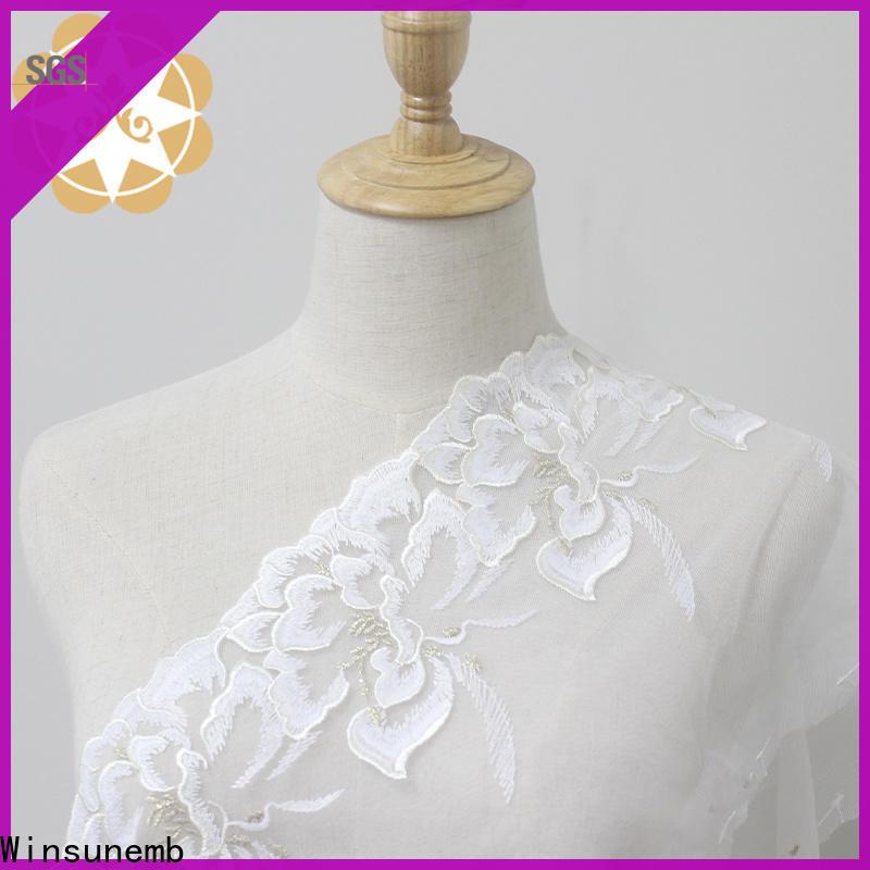 Winsunemb high quality stretch lace trim order now for fashion garment