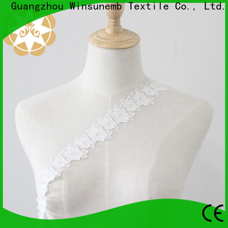 Winsunemb Embroidery Lace Trimming bulk production for fashion garment