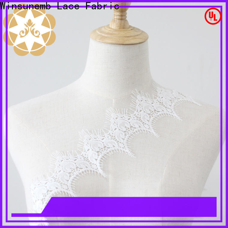 Winsunemb fine qualtiy elastic laces bulk production for lingerie