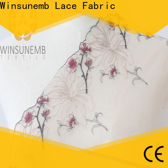 Winsunemb fine qualtiy lace trim by the yard bulk production for DIY