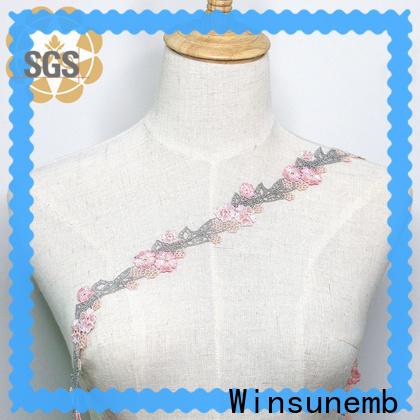 Winsunemb blue lace trim grab now for fashion garment