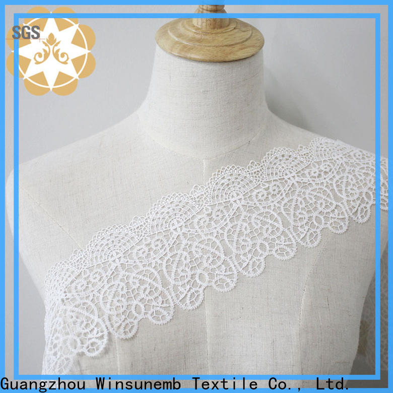 Winsunemb much stretch lace fabric producer for bedclothes