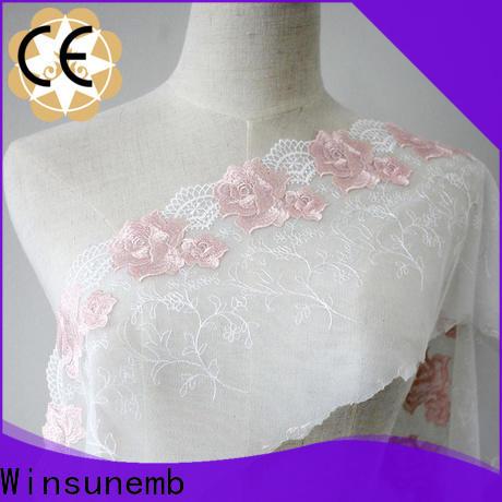 Winsunemb elegant lace fabric order now for underwear