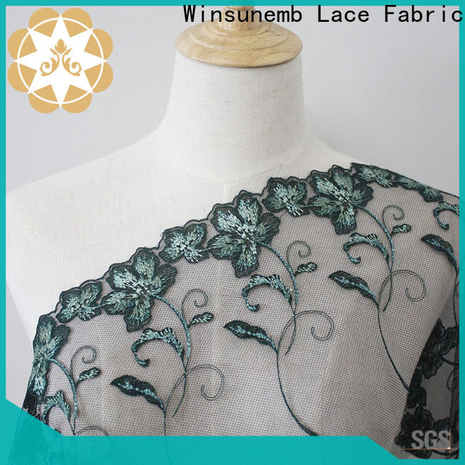 Winsunemb lace material for apparel