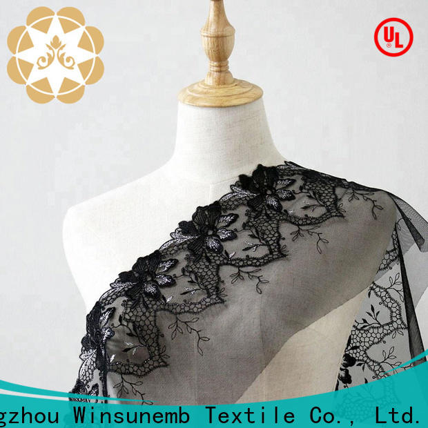 Winsunemb hollow lace fabric by the yard shop now for apparel