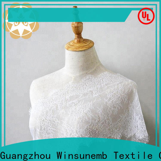 Winsunemb mesh lace by the yard for manufacturer for apparel