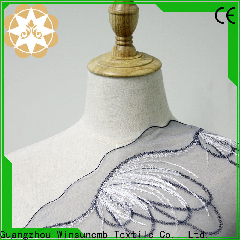 Winsunemb excellent Embroidery Lace Fabric for underwear