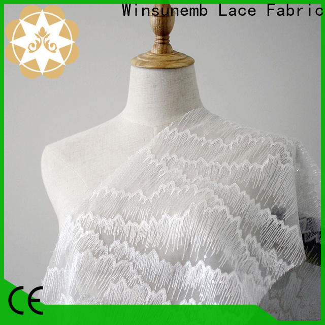 Winsunemb skirt lace material order now for apparel
