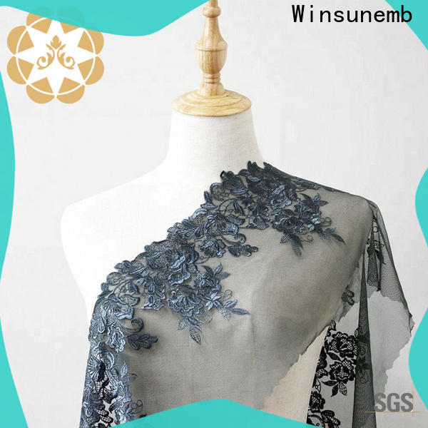 Winsunemb lace fabric by the yard for underwear