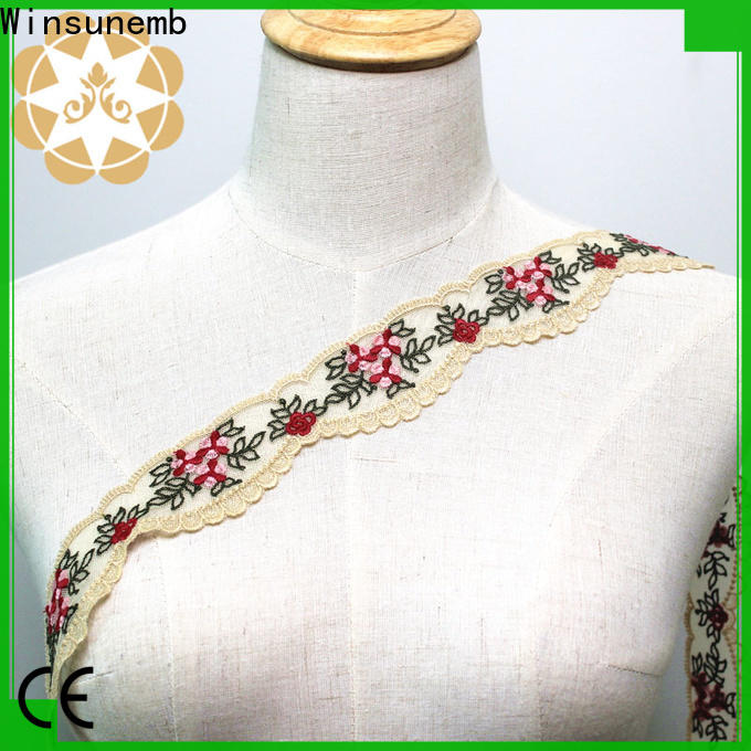 exquisite lace trim metallic for fashion garment