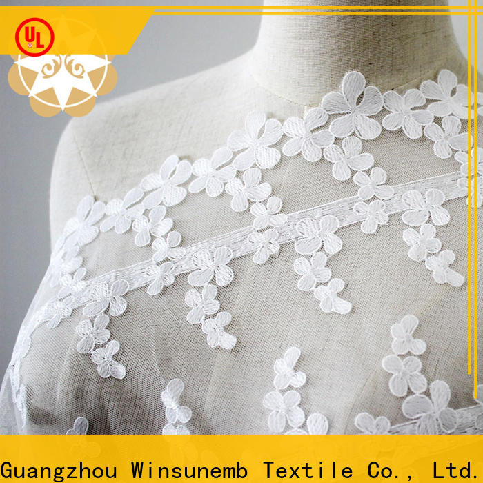 Winsunemb lace by the yard producer for apparel
