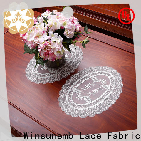 elegant lace placemats lotus for TV cabinets