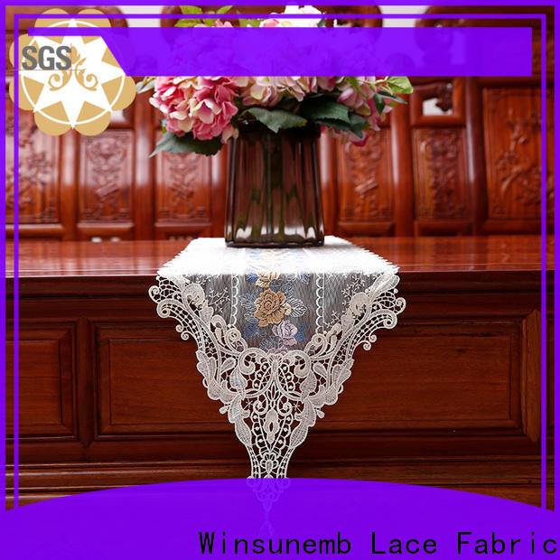 Winsunemb party lace table runners wedding for TV cabinets