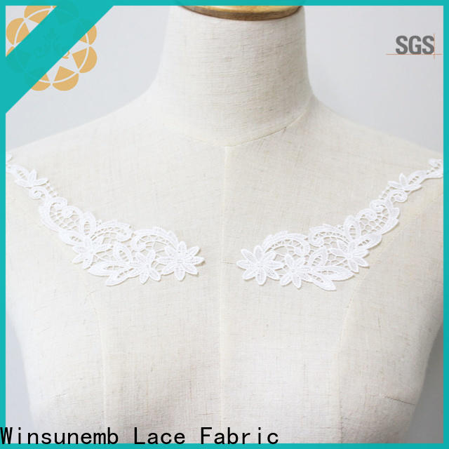 Winsunemb outstanding lace neckline wholesale for clothing collars