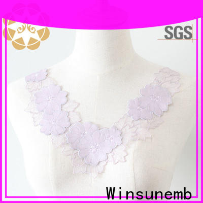 Winsunemb costume lace motif directly sale for clothing collars