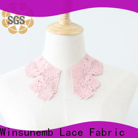 Winsunemb fancy lace neckline dropshipping for DIY