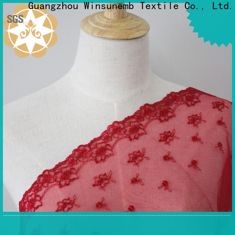 Winsunemb soft stretch lace fabric order now for apparel