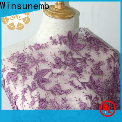 Winsunemb elegant stretch lace fabric grab now for underwear