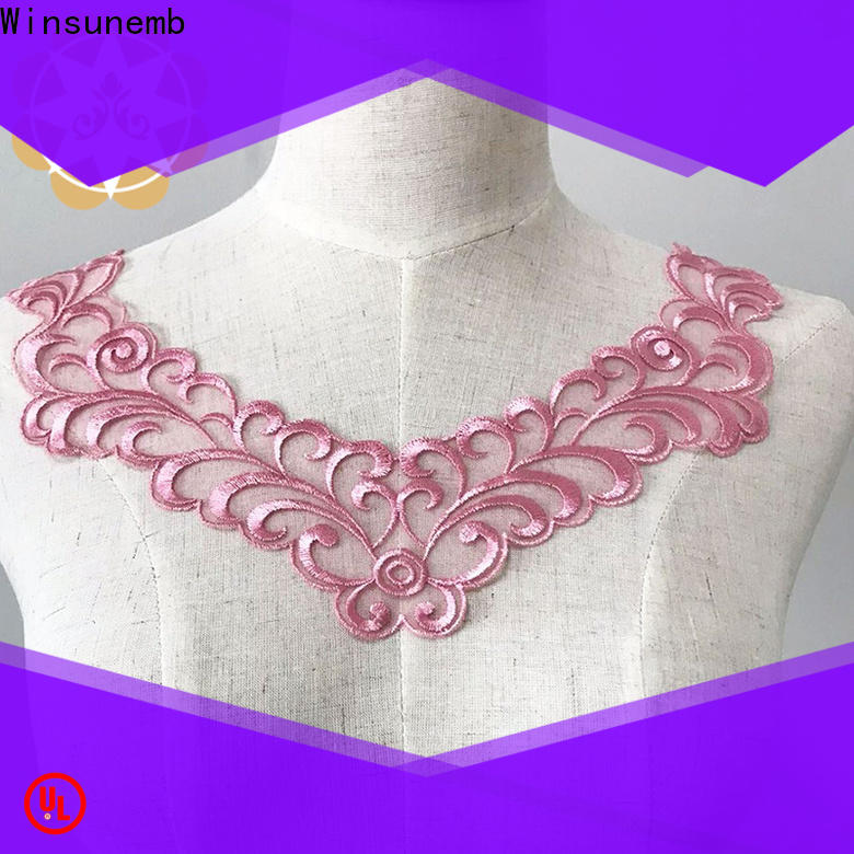 Winsunemb french lace neckline wholesale for decorate