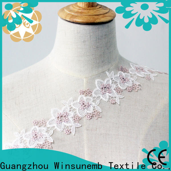 Winsunemb exquisite Embroidery Lace Trimming producer for fashion garment